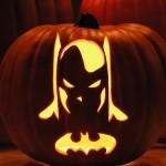 Halloween pumpkin carving Batman
