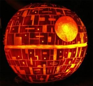 Halloween pumpkin carving Death Star