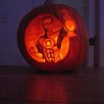 Halloween pumpkin carving Green Lantern