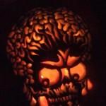 Halloween pumpkin carving Mars Attacks