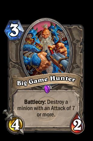 Big Game Hunter Hearthstone